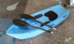Mirage blue kayak for sale Comes with pads for comfort