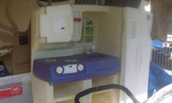Plastic kids toy kitchen free .contact beck on