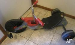 Kids Large Big Wheeled Racing Tricycle Near new. Handle