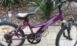 "Mongoose PRO BMX Mt Grizzly Purple, 20"" wheels,"