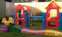 Kids outdoor playground and roller coaster All in very