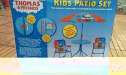 The Thomas the Tank Engine Patio Set includes 2 folding
