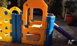 Plastic play gym Great fun for the kids Some fading but