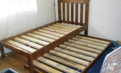 Kids single sized trudle bed. Still in great condition.