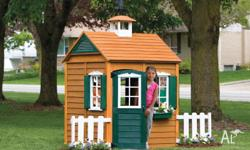 Kids Wooden Cubby House * Made from natural cedar wood
