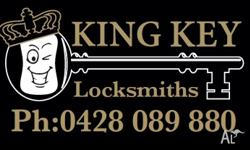 - Full locksmithing service inc locks, door closers,