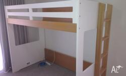 Taylor Loft Bed size King Single. Only used for 2