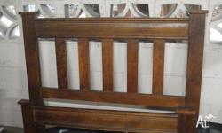 Solid timber king single bed in good condition. My son