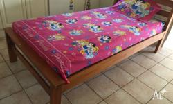 Beautiful King single Timber bed. Has some wear and