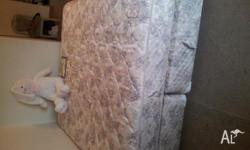 Almost new king size mattress and Base is for sale.