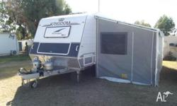 "19ft Kingdom caravan on a 6""chasis with dual 15""wheels,"