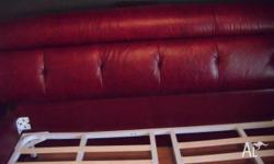 kingsize bed and matching side tables maroon/red