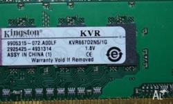 Kingston DDR2 1GB PC2 5300 RAM Sticks $15.00 ea Have 2