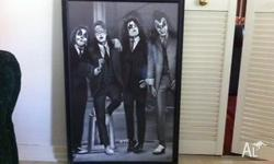 KISS Black and White Print framed with glass in mint