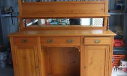6 ft pine kitchen dresser. The top incoperates a