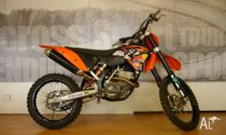 2008 model KTM 250SX-F, good condition and well