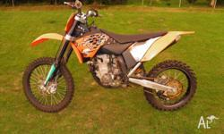 ktm 250sx-f 2008 model. very good condition, goes