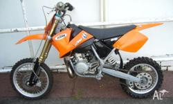 KTM, 65SX, MY05, 2004, MINIBIKE, 65cc, 6 SPEED MANUAL,