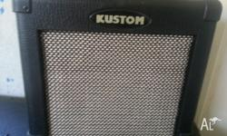 Kustom Guitar Amp Great clean sound with a good amount