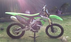 Selling my KX250F, low 9 hours since new! Urgent sale