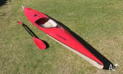 My daughter raced this kayak over east in sprint and