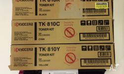 Kyocera TK-810 Genuine C, M, Y and K toner cartridges