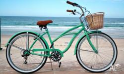 Mint Green 7 speed beach cruisers Free Front Basket