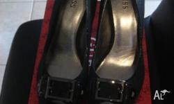 Black stilleto Guess designer heels purchased from Myer