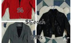 3x jackets all in excellent used condition. Price is