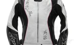 Beautiful top quality leather motorcycle jacket for