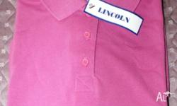 Ladies Pink Polo Top - Lincoln Design: size 12 NEW Pink