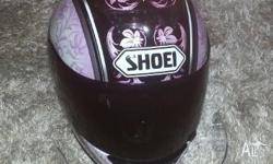 As New - Ladies Shoei Motorcycle Helmet - Small With