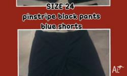 HI I AM SELLING LADIES SIZE 24 BLACK PINSTRIPE PANTS