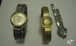 LADIES WATCH 3 WATCHES SALE AS IS SALE THELOT SYPRUS 17