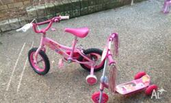 Childrens 30 cm bike good condition. Comes with Dora