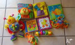 Collection of Lamaze cloth books - Monkey See, Monkey