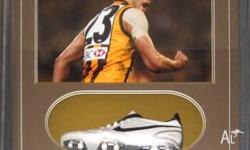 Buddy Franklin framed and signed football boot