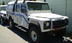 LAND ROVER, DEFENDER, 2001, 4WD, whitE, CREW C/CHAS,