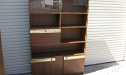 Large 70's display cabinet In very good condition,