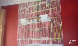 have for sale large white metal bird cage measures 89cm