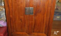 Good condition, solid timber cabinet with 2 drawers and