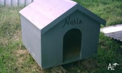 Solid timber kennel, suit medium/large size dog. good