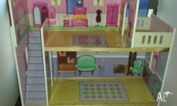 This large doll house is perfect for young children.
