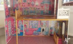 Lovely large dolls house for sale. Used but in good
