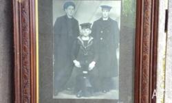 LARGE FRAMED PHOTO OF WW1 HMAS MELBOURNE UNKNOWN