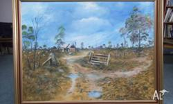 This Painting was purchased in Tasmania and Depicts a