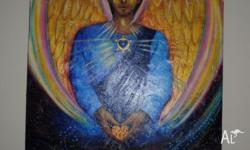 This beautiful original painting of Archangel Michael