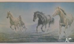 Large Perillo horse print titled Stampede. Measures