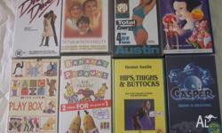Large selection of VCR's children's, fitness, & movies