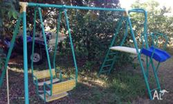 Large swing set barely used great condition comes with